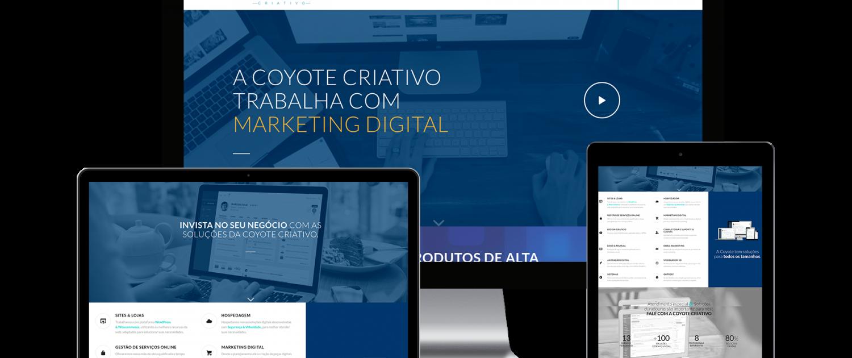 site institucional - site responsivo - coyote criativo