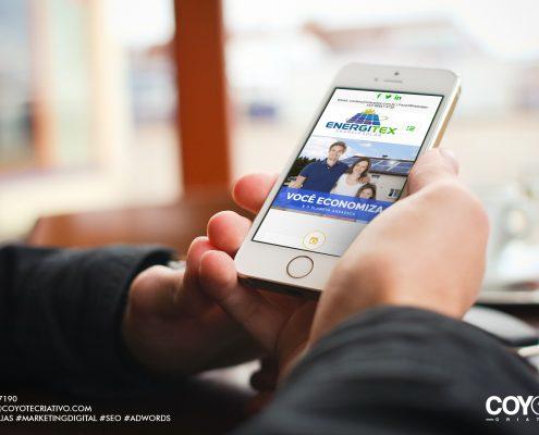 Site energitex em smartphone