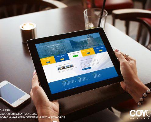 Site energitex em tablet